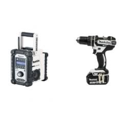Makita DHP482RFWJ 18v LXT Combi Drill +Makita DMR104W Dab Radio