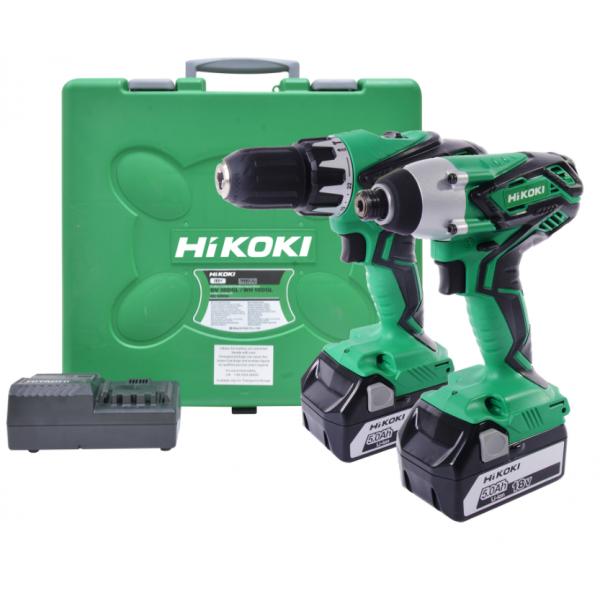 Hikoki KC18DGL/JE 18V 2x5.0Ah Combi Drill Impact Driver Twin Kit