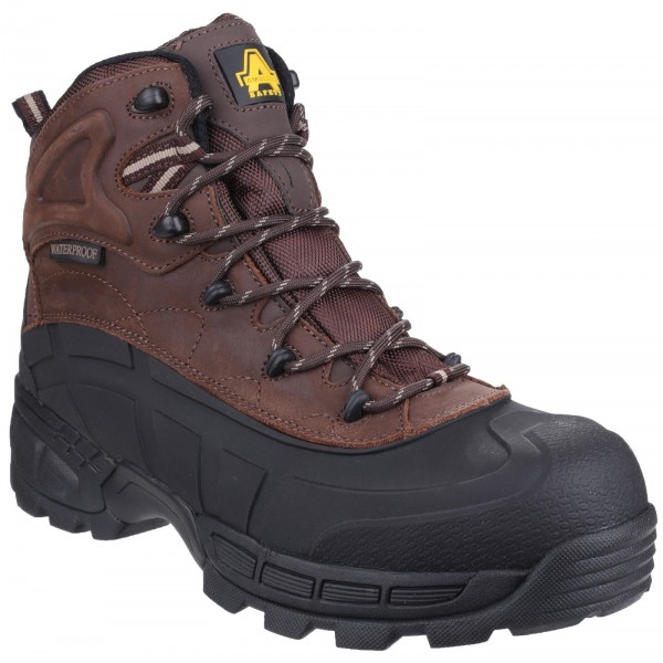 Amblers FS430 Brown Orca Waterproof Safety Boots With Composite Toe Caps & Midsole