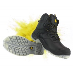 Amblers FS198 Waterproof Safety Boots Black With Steel Toe Cap & Midsole