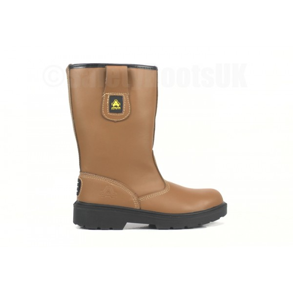 Amblers Rigger Boots FS124 Tan Leather Rigger Boot With Steel Toe Cap & Midsole 3 - 15