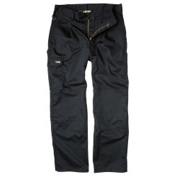 Apache Workwear Mens Black Cargo Trousers Kneepad Tool Phone Pocket Pant