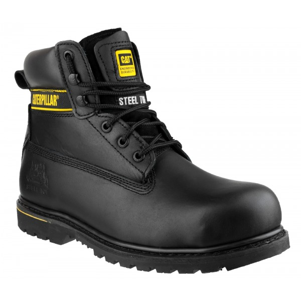 CAT Holton Black Safety Boots S3