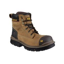 CAT Gravel Brown Safety Boots with Steel Toe Cap