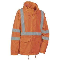 Cofra Merida Orange Hi Vis Waterproof Jacket EN343 EN471