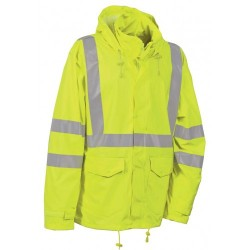 Cofra Merida Yellow Hi Vis Waterproof Jacket EN343 EN471