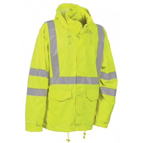 Cofra Merida Yellow Hi Vis Waterproof Jacket EN343 EN471