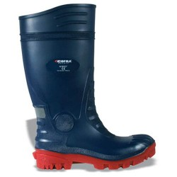 Cofra Typhoon Wellington Boots Blue With Steel Toe Caps & Midsole
