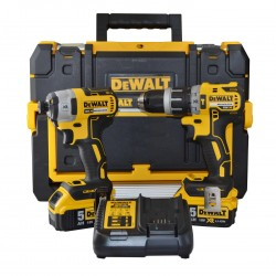Dewalt DCK295P2T-DealA 18v Twin Pack 2 x 5ah Batteries in T-stak Case