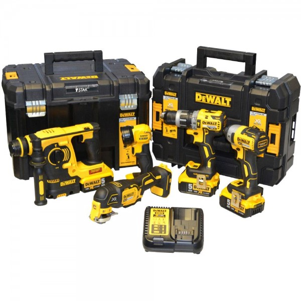 Dewalt DW5KITA 18v 5pc Kit With 3x5ah Batteries and 2 Tstak Cases