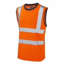 Leo Workwear Ashford Class 2 GO/RT Poly/Cotton Vest
