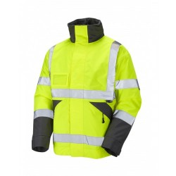 Leo Workwear Bickington Class 3 Yellow Hi Vis Bomber Jacket