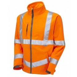Leo Workwear Buckland Class 3 GO/RT Orange Softshell Jacket