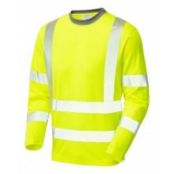 Leo Workwear Capstone Hi-Vis Sleeved T-Shirt Yellow
