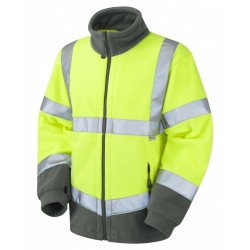 Leo Workwear Hartland Class 3 Yellow Fleece Jacket