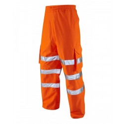 Leo Workwear Instow Class 1 GO/RT Orange Cargo Overtrousers