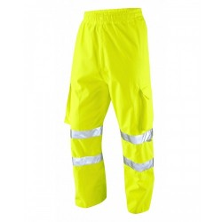 Leo Workwear Instow Class 1 Yellow Cargo Overtrousers