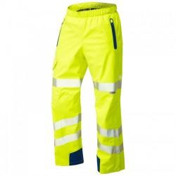 Leo Workwear Lundy Yellow Hi-Vis Waterproof Overtrouser