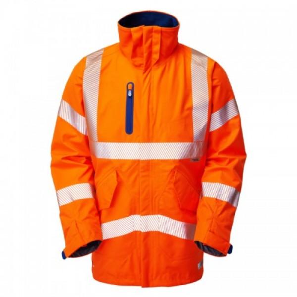 Leo Workwear Marisco High Performance Waterproof Anorak Orange