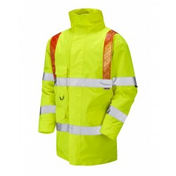 Leo Workwear Putford Class 3 Yellow Hi Vis Orange Brace Anorak