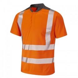 Leo Workwear Putsborough Hi-Vis Performance T-Shirt Orange