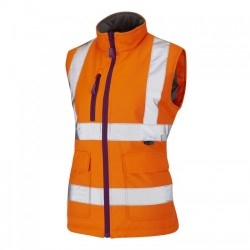 Leo Workwear Sandymere Orange Hi-Vis Body Warmer Class 1