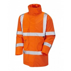 Leo Workwear Tawstock Class 3 GO/RT Orange Anorak