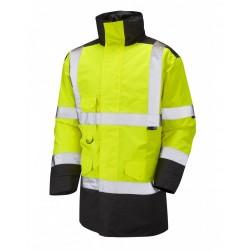 Leo Workwear Tawstock Class 3 Yellow/Black Anorak