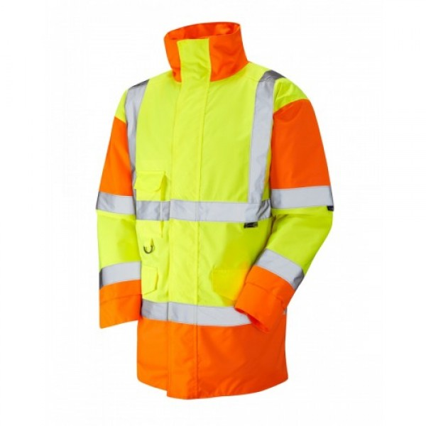 Leo Workwear Tawstock Class 3 Yellow/Orange Anorak