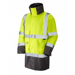 Leo Workwear Torridge Class 3 GO/RT Yellow Lightweight Anorak
