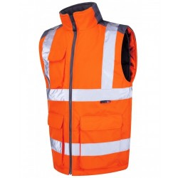 Leo Workwear Torrington Class 2 GO/RT Orange Hi Vis Body Warmer