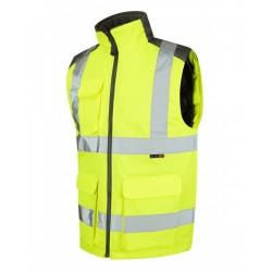 Leo Workwear Torrington Class 2 Yellow Hi Vis Body Warmer