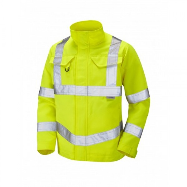 Leo Workwear Yeoford Class 3 Yellow Drivers Jacket