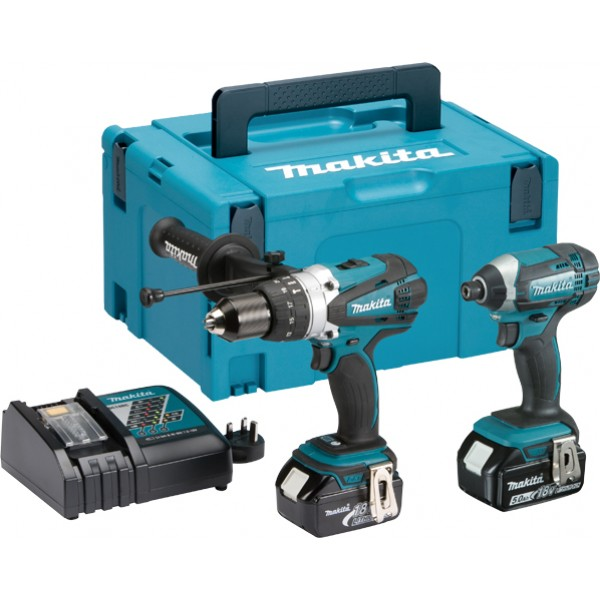 Makita DLX2145TJ 18V LXT 2pc Combo Kit 2x 5ah Batteries