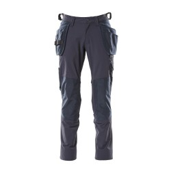 Mascot Accelerate 18031 Pants With Kneepad Pockets And Holster Pockets Dark Navy