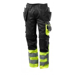 Mascot Safe Supreme 17531 Hi Vis Trousers With Holster Pockets