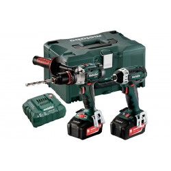 Metabo Combo Set 2.1.5 18v Cordless Machines 2 X 5.2ah Li-ion Batteries + Charger