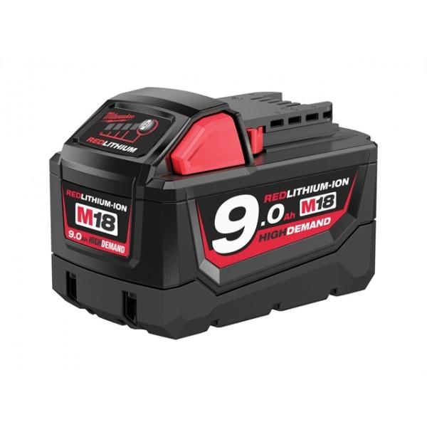 Milwaukee M18 B9 REDLITHIUM-ION™ Slide Battery Pack 18 Volt 9.0Ah Li-Ion