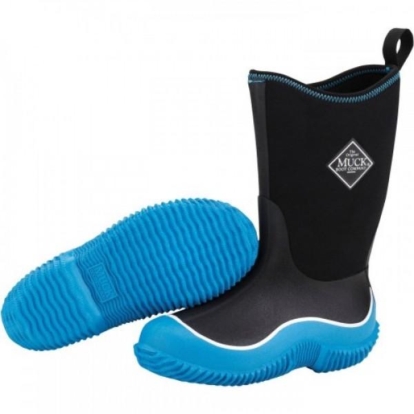 Muck Boots Kids Hale Black /Blue Wellingtons