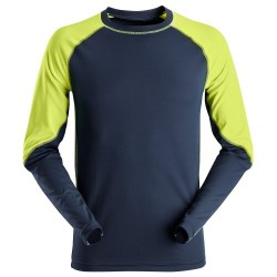 Snickers 2405 AllroundWork Neon Long Sleeve T-Shirt