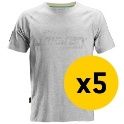 Snickers 5x 2580 Logo T-Shirt Bundle