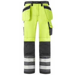 Snickers Workwear 3233 High  Visibility Work Trousers 3233 Snickers, Snickers High Visibility Trousers