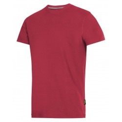 Stock Clearance Snickers Workwear 2502 Chili Red Classic T-Shirt Large 44 Chest ex Display A1 Condition