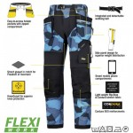 Snickers Trousers 6902 Flexiwork Ripstop Holster Trousers, New Snickers Flexiwork Ripstop Trouser