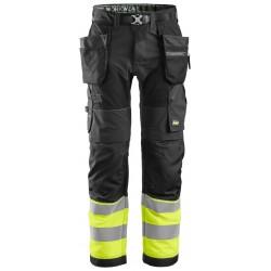 Snickers 6931 FlexiWork, Hi-Vis Work Trousers+
