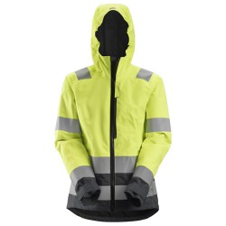 Snickers 1347 AllRoundWork Women's Hi-Vis Waterproof Shell Jacket