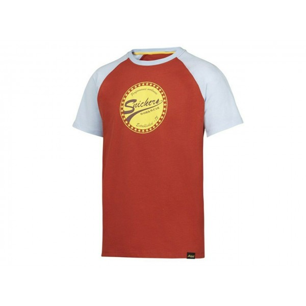 Stock Clearance Snickers 2510 Limited Edition T-Shirt Red/Light Blue Large 44 Chest ex Display