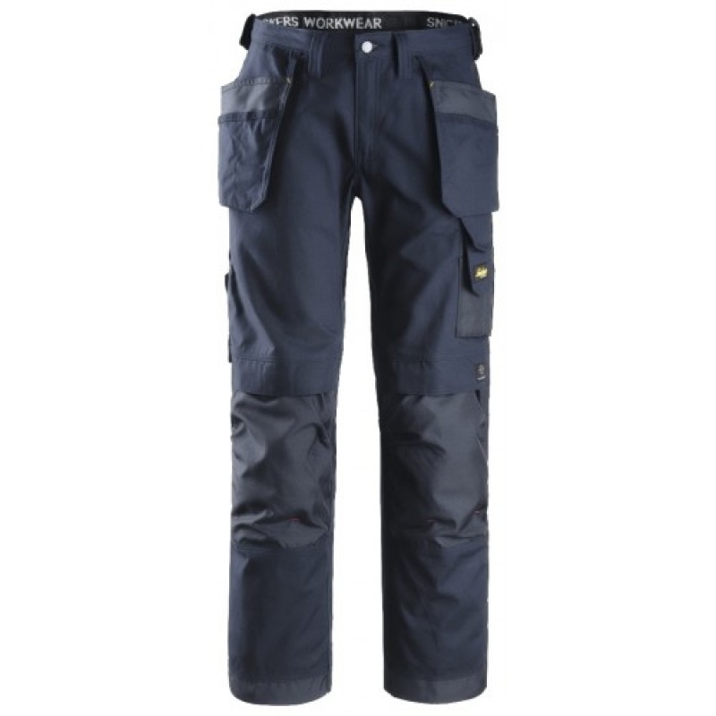 Snickers 3214 Canvas Plus Craftsmen Trousers Navy