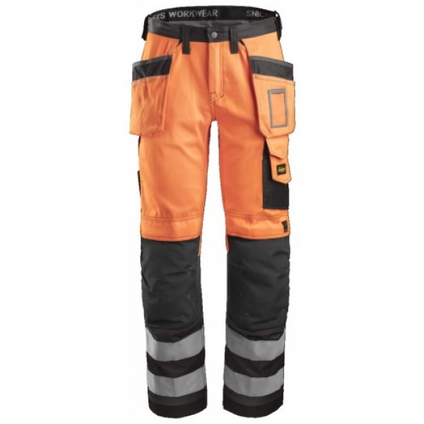 Snickers 3233 Hi-Vis Work Trousers