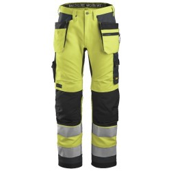 Snickers 6230 Hi-Vis Trousers Holster Pockets+ CL2
